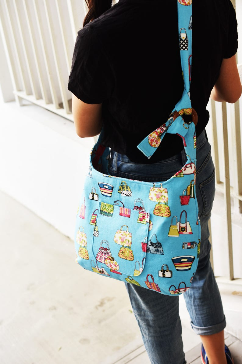 Zippered Shoulder Bag   Crossbody Bag One Ring Wonder Bag image 0