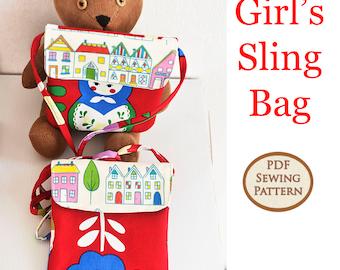 Easy Beginner Girl's Sling Bag Pattern | PDF Sewing Pattern | Bag Sewing Pattern |
