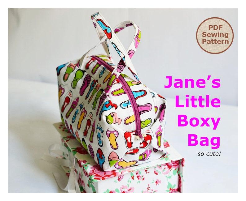 Jane's Little Boxy Bag PDF Easy Sewing Pattern  PDF image 0