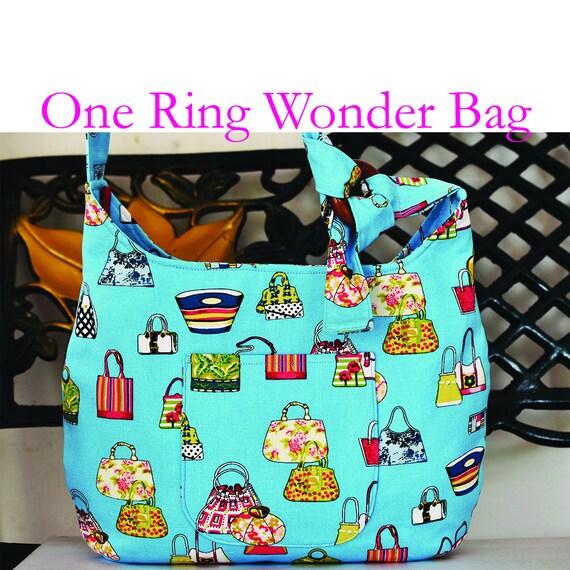 One Ring Wonder Bag Pattern PDF Sewing Pattern Bag Sewing   Etsy