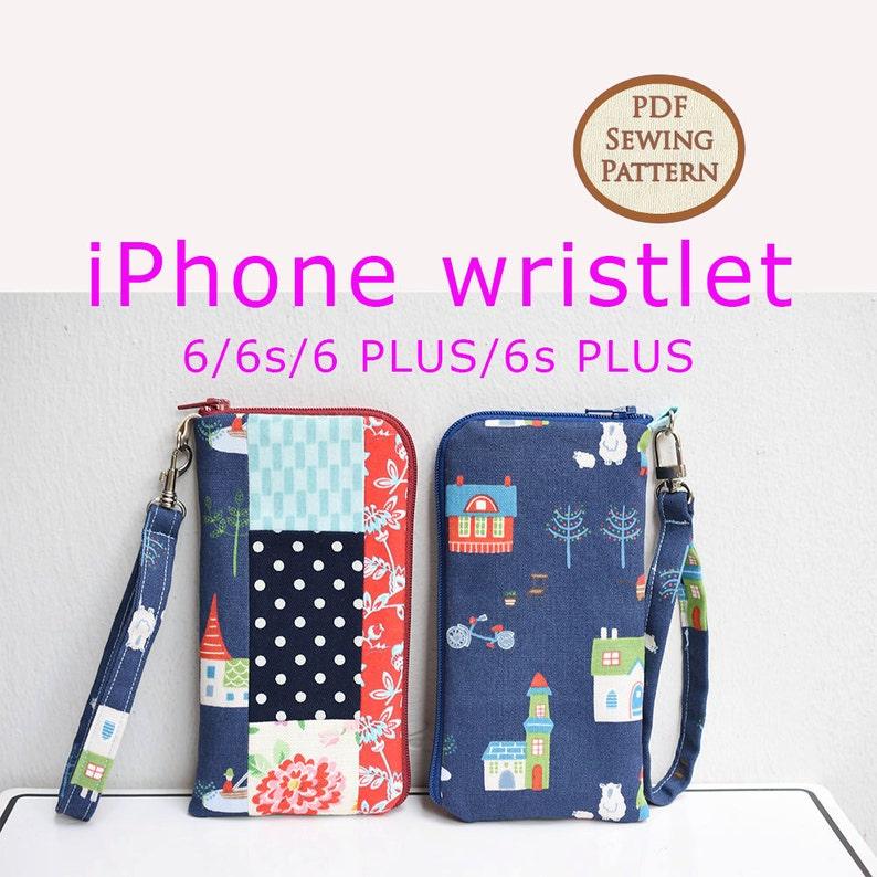 iPhone wristlet Pattern  PDF Sewing Pattern  Bag Sewing image 0