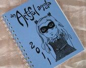 SALE-Blue masked 2011 planner by An Artful Agenda- with hand-drawn images for each day of the year
