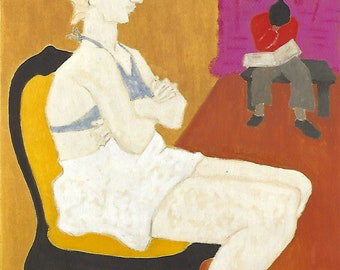 Milton Avery Ping Pong 11 by 14 in Giclee Print modern art Abstract Expressionism framable art perfect gift