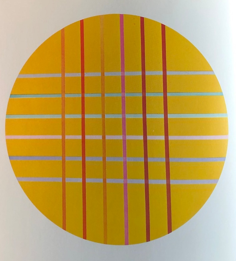 Kenneth Noland Golden Space Giclee print poster modern art lover Abstract Expressionism Choose size small large medium