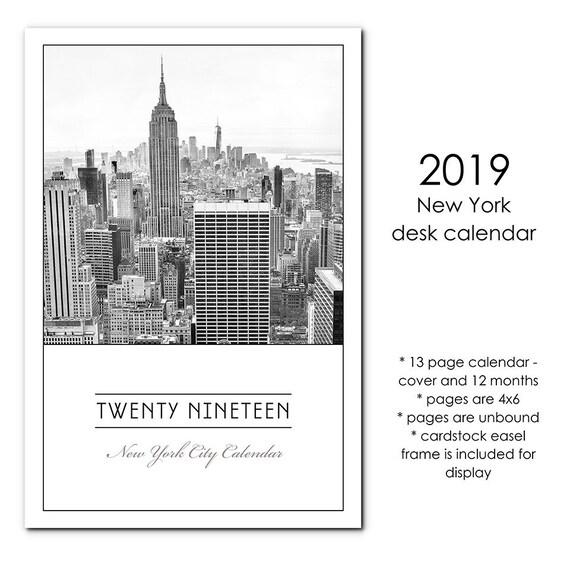 2019 Calendar Photo Calendar New York City Calendar NYC | Etsy