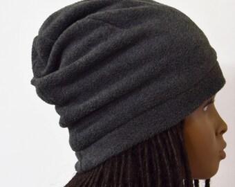 90d8d133d02 Girls Dark Gray Slouchy Fleece Slouchy Hat - Warm Hats - Fleece Hat