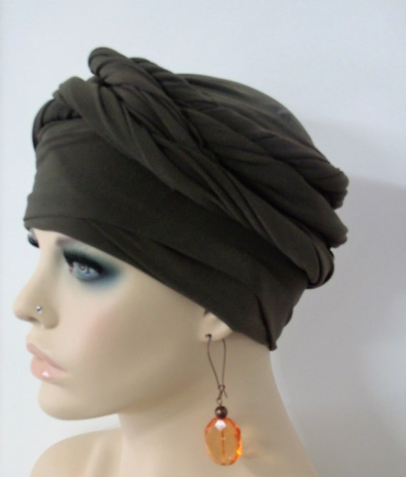 corto Etsy abrigo mujeres PZ de oliva turbante EZ para de Las pelo vw5Pqav