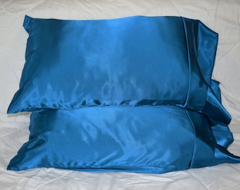 Satin Pillow Case - Silky Sleep - Hair Protection - Standard Size - Queen Size - King Size - Made To order- Choose a Color & Size