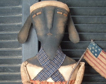 PriMitiVe Dolly BaaBaaddison Folky Sheep epattern Instant Download
