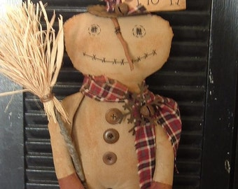 PriMitive Frosty the SnowMaN Instant Download