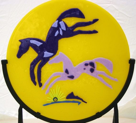 Playful Paints - Fused Glass Southwestern Horses