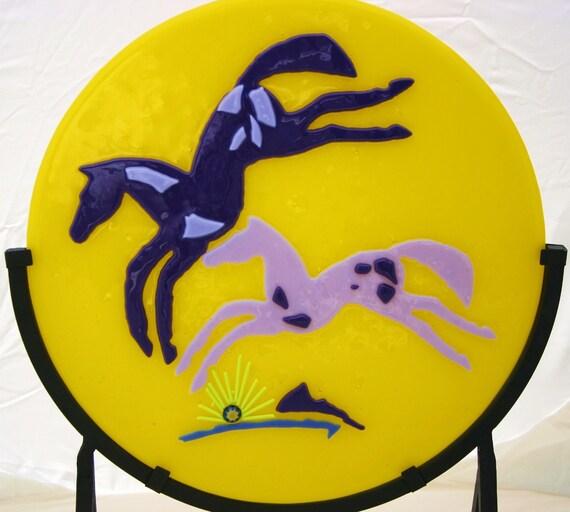 Playful Paints - Fused Glass Southwestern Horses
