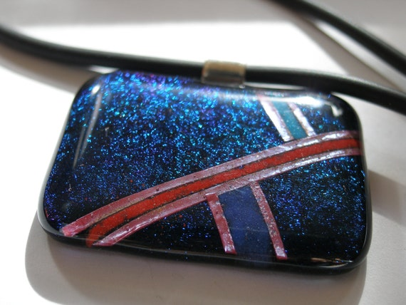 Radiance fused glass pendant