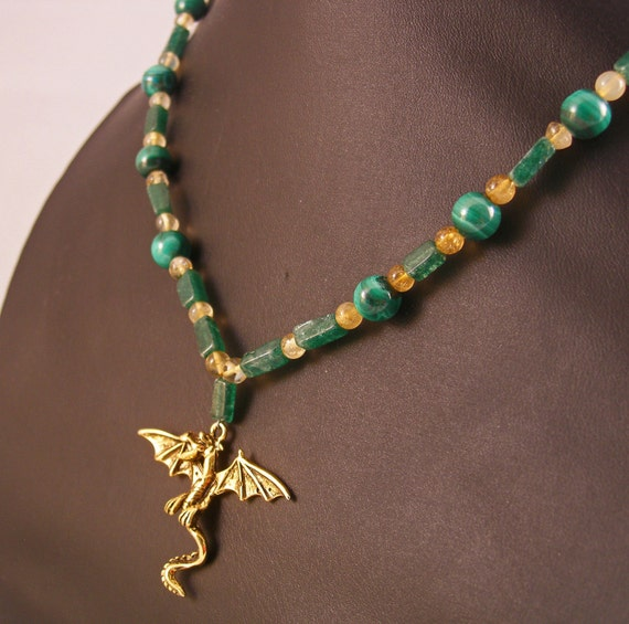 Daenerys Targaryen Inspired Dragon Gemstone Necklace