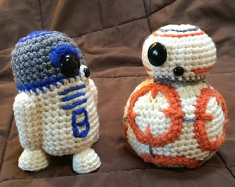 BB8 AND R2D2 Star Wars Inspired Crochet Patterns 2 for 1!!