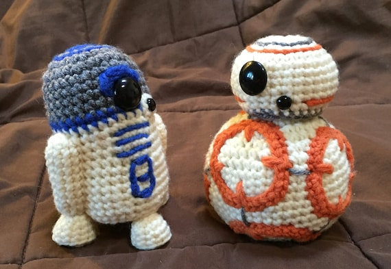 Bb8 And R2d2 Star Wars Inspired Crochet Patterns 2 For 1 Etsy