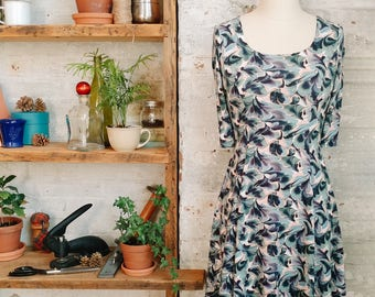Marion Liberty imprimé - robe casual robe impression marbre - petite fashion - rose et bleu - petite robe - robe Liberty of London