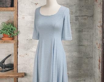 Robe rayée Marion Marinière - robe bleue - nautique robe - vêtements petite rayures breton - robe soleil - - casual - mode eco
