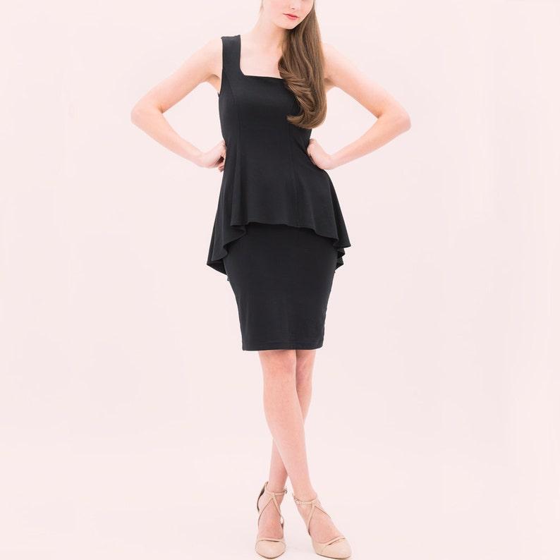 Claudia Peplum Dress Knee Length Cocktail Dress little  25d864843