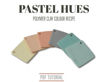 Polymer Clay Colour Recipe Tutorial, Pastel Colour Palette Mixing for Fimo Clay, Digital Download