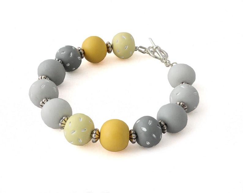 b058af310 Beaded Bracelets for Women Chunky Bracelet Yellow Bracelet | Etsy