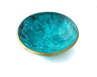 Trinket Dish for Rings in Turquoise Blue - Decorative Home and Bedroom Accessories, and Housewarming Gifts