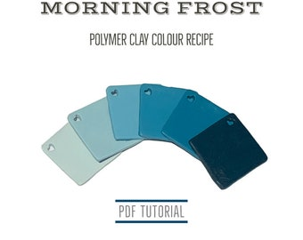 Polymer Clay Colour Recipes | Blue Palette Mixing Tutorial Recipes for Fimo Clay | Digital Download