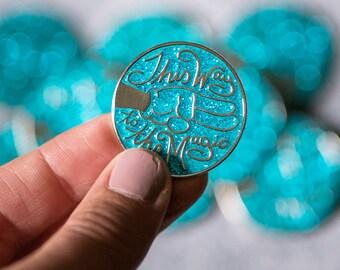 De cette façon à la broche émail doux paillettes magiques - donner aux enfants la collecte de fonds monde