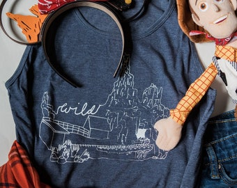 Wildest Ride in the Wilderness, Big Thunder Mountain - Unisex Tank Top - Give Kids the World Fundraiser