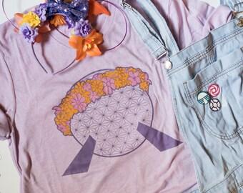 Vaisseau spatial Terre Epcot fleur et jardin - unisexe Tee - donner aux enfants la collecte de fonds monde
