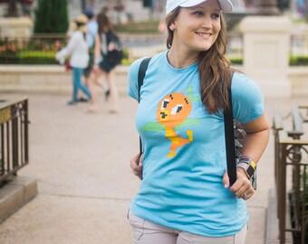 Disney pixel oiseau Orange - Tshirt unisexe bébé bleu - donner les enfants la collecte de fonds monde