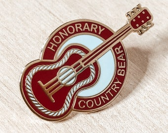 Honorary Country Bear Enamel Pin - Give Kids the World Fundraiser