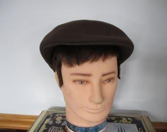 Vintage Gentleman s Wool Ascot London Hat 100% wool Men s Vintage Broner  Cabbie 14db5d82034a