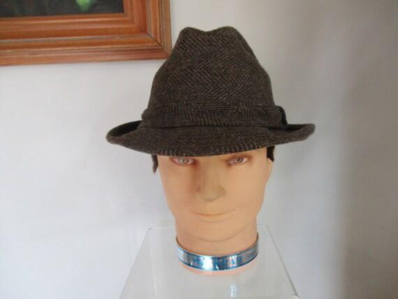 Gentleman s Hat Stetson 100% Wool Fedora Vintage Hat  57924672de76