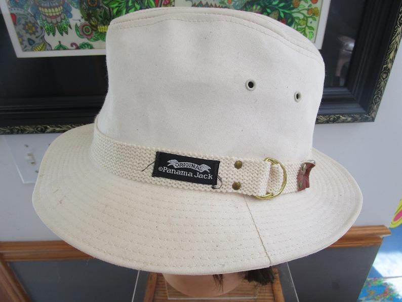 Men/'s Original Panama Jack Ivory Vacation  Hat Canvas Fedora  Medium