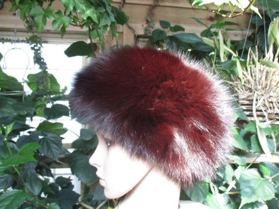 Jacobson's Fur Hat 60's  Women's  Rabbit Fur Wint… - image 3