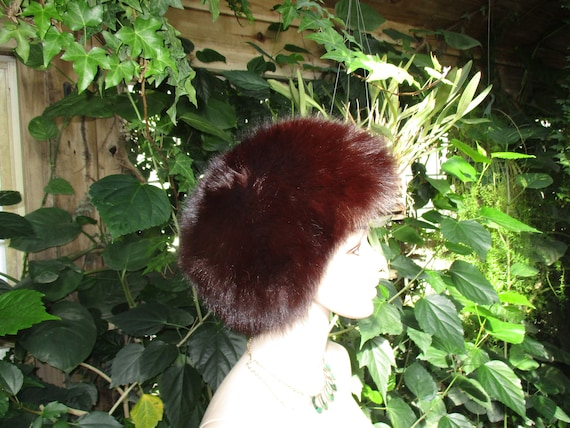 Jacobson's Fur Hat 60's  Women's  Rabbit Fur Wint… - image 5
