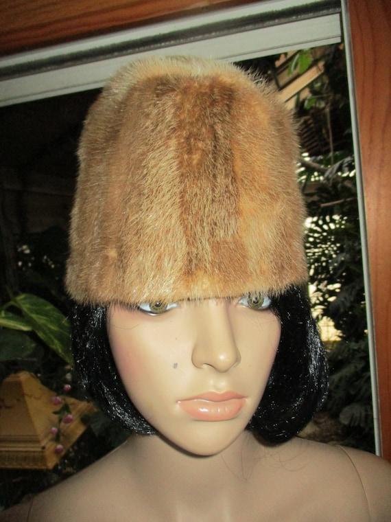 60's Fur Cloche Hat Winter Fur Hat Clean - image 2