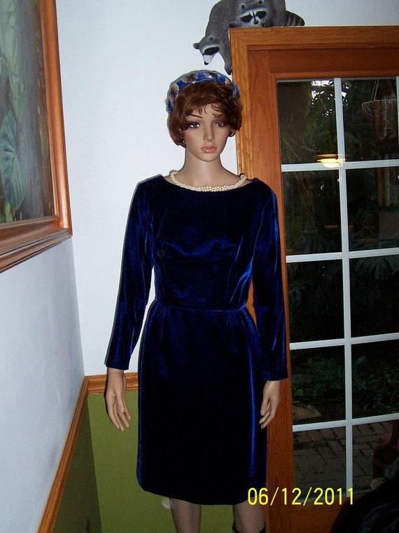 Womens Velvet Purple ~ Dress-Cocktail Dress-Long S