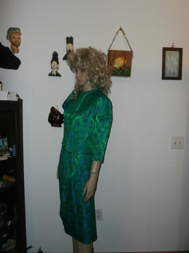 Womens 3 Piece Blouse  Pencil Skirt ~ Jacket  Womens Vintage Suit /Formal Dress Suit