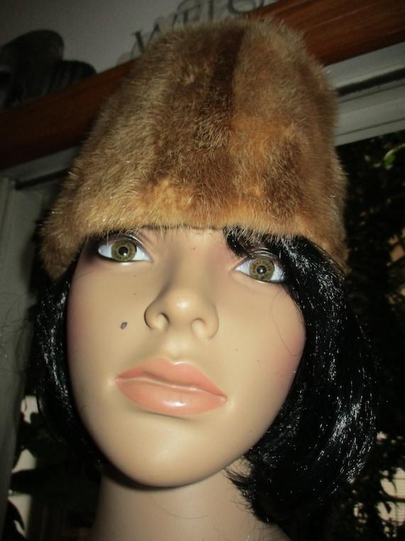 60's Fur Cloche Hat Winter Fur Hat Clean - image 1