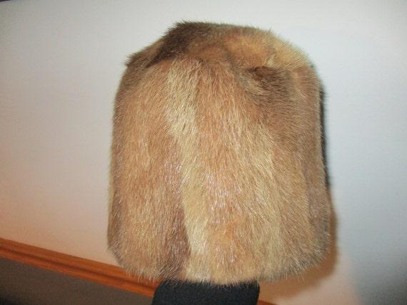 60's Fur Cloche Hat Winter Fur Hat Clean - image 4