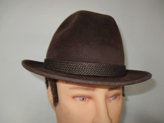 b18ba87fb76 1950 s Stevens Beaver Blend Men s Fedora Hat