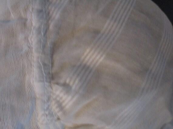 Women's White Night Bonnet,  Victorian Bed Cap. - image 4