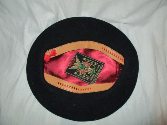 Black Wool Beret Prima Foulard  Impermeable Cap B… - image 4
