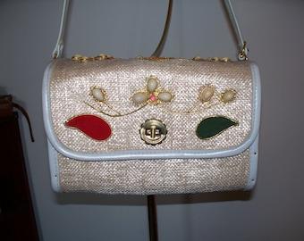 Vintage 60s Fine Arts Bag Co Handbag Purse with Jewels Womens