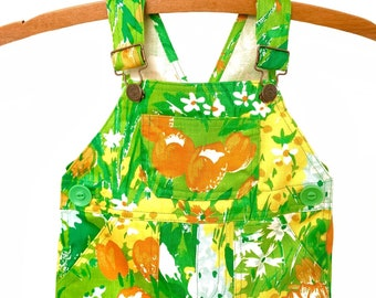 Overalls / Handmade / Pants / Coveralls / Dungarees - Rainbow Patch Overalls - Prairie Song Overalls