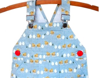 Overalls / Handmade / Pants / Coveralls / Dungarees- Chicken or Egg Overalls