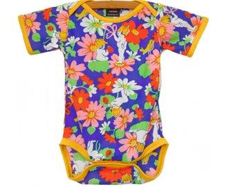 Vintage / Handmade / Bodysuit / pretty girl / baby clothes - Garden Baby