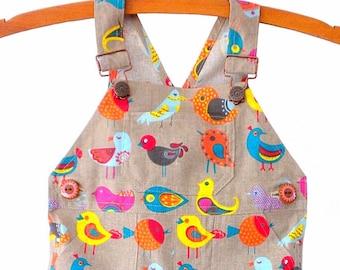 Overalls / Handmade / Pants / Coveralls / Dungarees- Bird Watcher Overalls